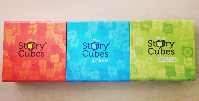 story cubes - good warm up for trainings and workshops